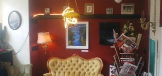 Bild från Magnus Jerganders utställning hos Skäggiga damen