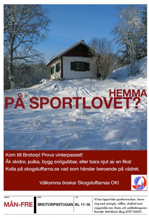 Sportlov på Brotorp