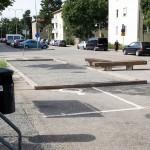 Den berömda boulebanan som täcker handikapprutan. (foto: Bagisbloggen)