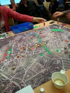 I workshoppgrupperna fick man placera ut vad man gillade, inte gillade, förslag på service, skola, bostäder mm.