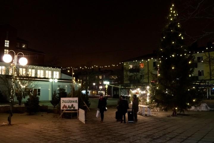 Bagisbon Anders Magrioteli tog en snapshot av ett julmysigt Lagaplan 17 februari. (foto Anders Magroteli)