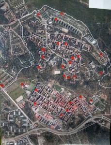 Här är en karta över vart deltagarna i kvällens designdialogsövning bor någonstans. Helt okej spridning.