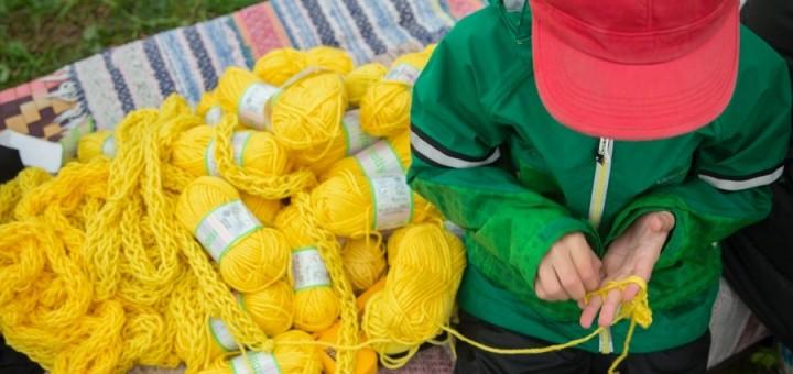 Från söndagens fingerstickning. Spatial ingick i Bagisodlarnas Gröna söndagprogram. (Foto Spatial)