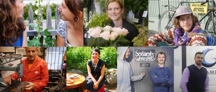 Ett gäng Bagisprofiler som alla intervjuats och fotograferats av Susanna Elfors