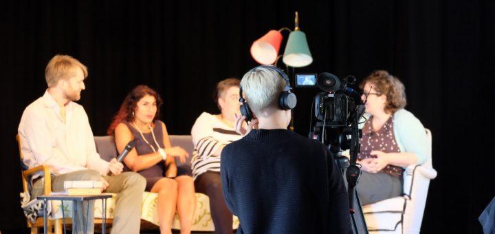 Bild från inspelningen av Bokmålet. (foto: Sophia Nilsson)